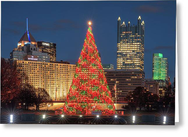 Greeting Card featuring the photograph Christmas  Season In Pittsburgh  by Emmanuel Panagiotakis