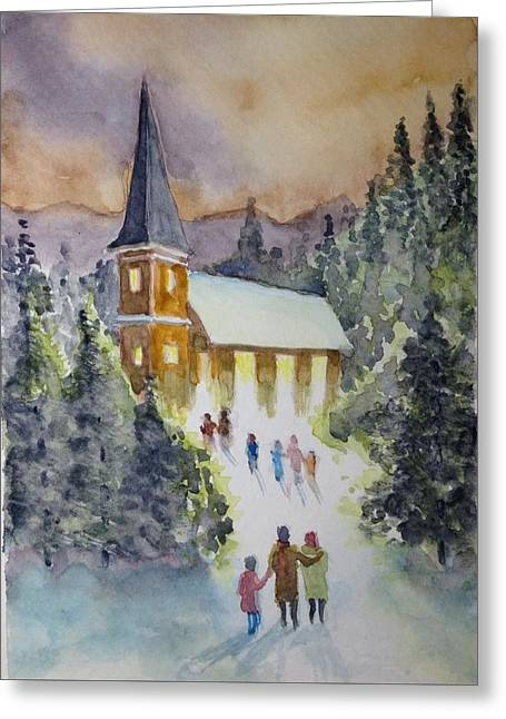Christmas Service Greeting Card