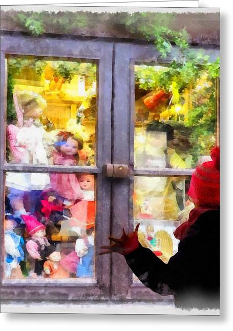 Christmas Shop Window Greeting Card
