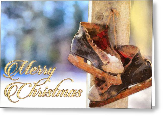 Christmas Skates Greeting Card by Ryan Burton