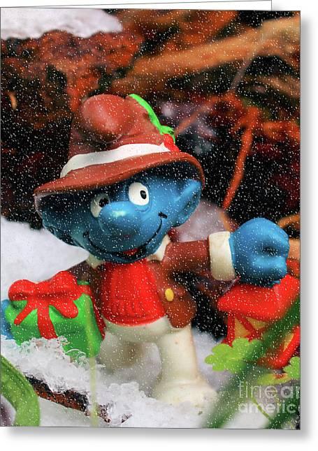 Christmas Smurf Greeting Card