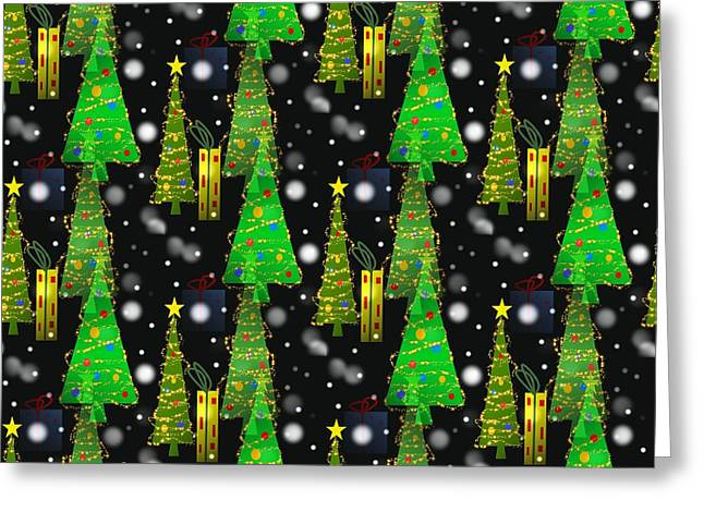 Christmas Snow Fall Greeting Card