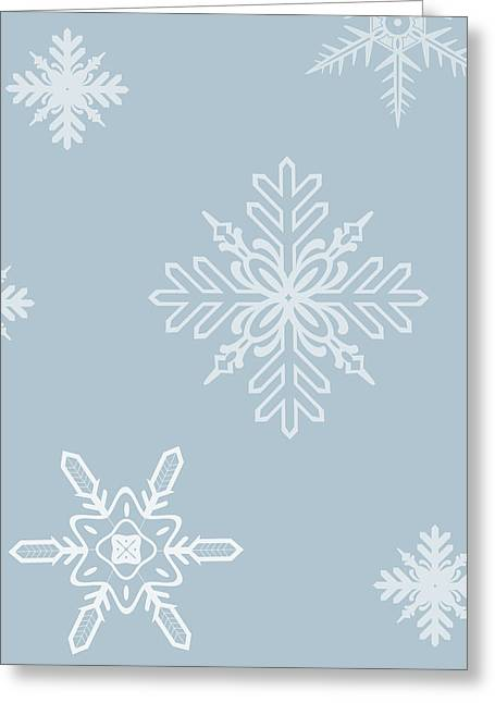 Christmas Snowflakes - No Text  Greeting Card by Maggie Terlecki