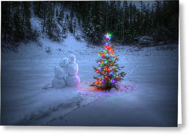 Christmas Spirit At Grouse Creek Greeting Card