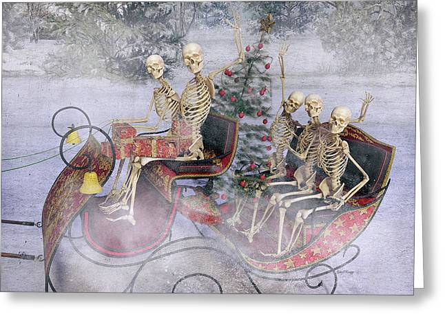Christmas Spirits Heading To Topsail Island Nc Greeting Card