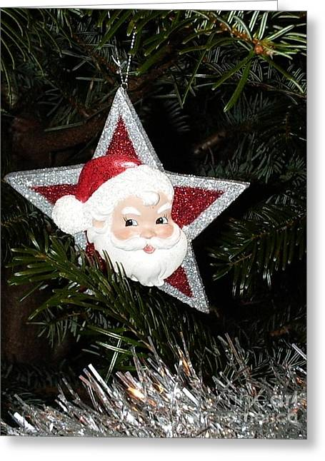 Christmas Star Greeting Card by Deborah Brewer