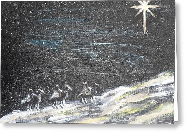 Christmas Star Greeting Card by Diane Wigstone