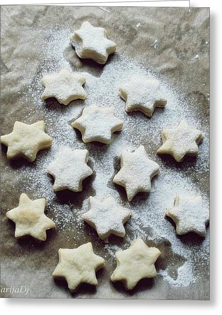 Christmas Stars Greeting Card by Marija Djedovic