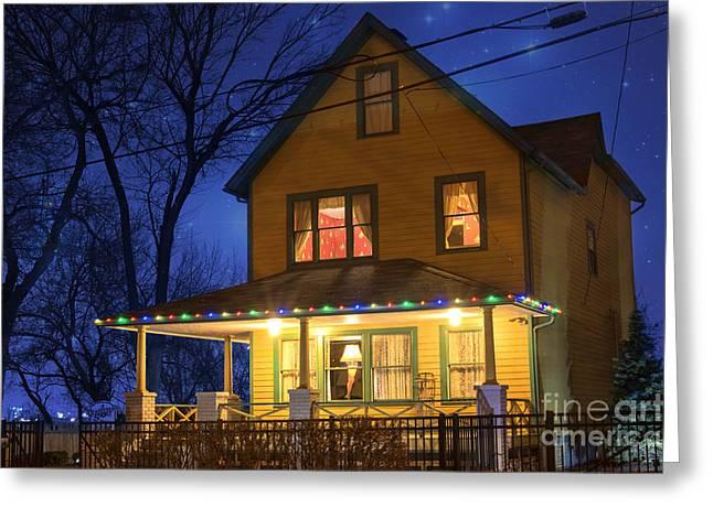 Christmas Story House Greeting Card