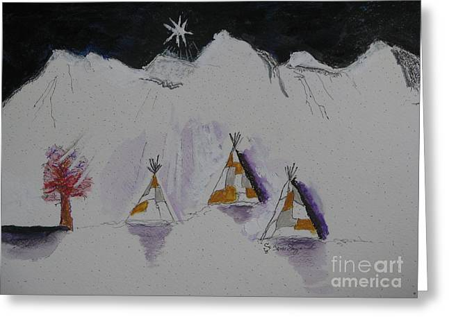 Christmas Teepees Greeting Card by James SheppardIII