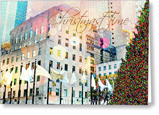 Christmas Time Greeting Card by Diana Angstadt