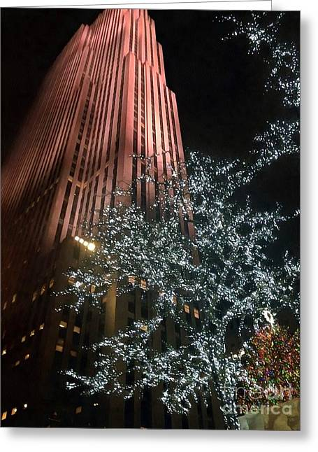 Christmas Time In Nyc Rockefeller Center Greeting Card