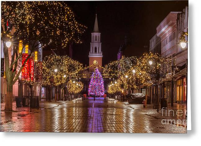Christmas Time On Church Street. Greeting Card