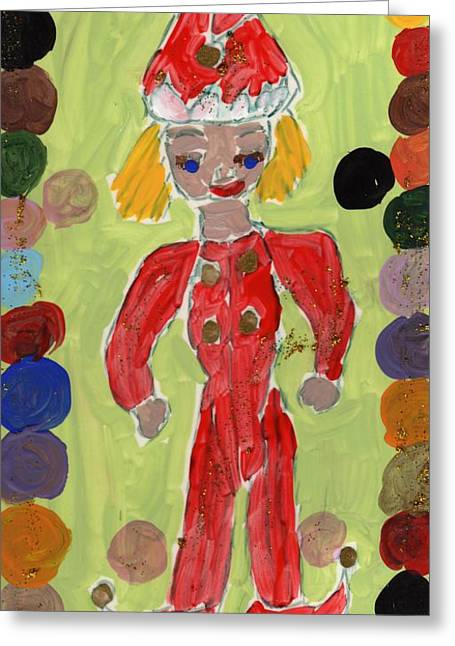 Christmas Time Greeting Card by Rosemary Mazzulla