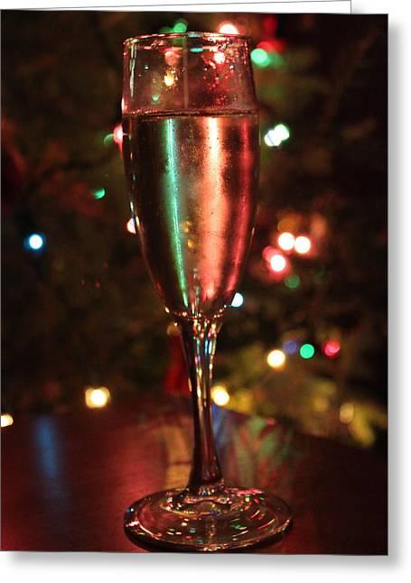 Christmas Toast Greeting Card by Lauri Novak
