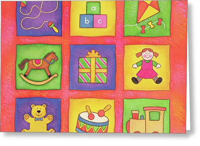 Christmas Toys Greeting Card
