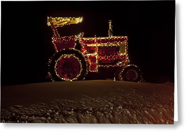 Christmas Tractor   Greeting Card