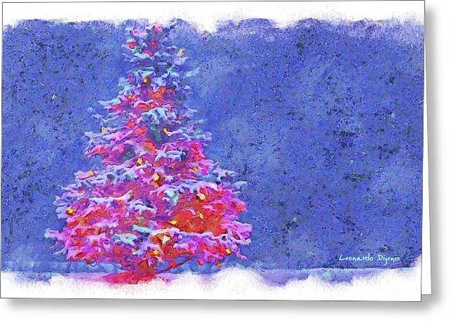Christmas Tree 10 - Da Greeting Card