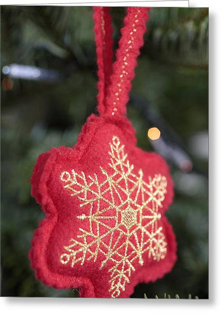 Christmas Tree Decoration Greeting Card by American School