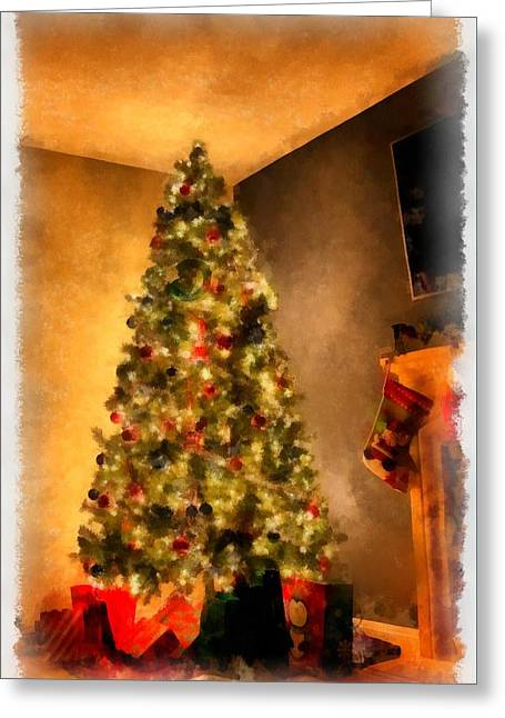Christmas Tree Greeting Card by Esoterica Art Agency