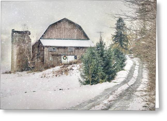 Christmas Tree Hill Greeting Card by Lori Deiter