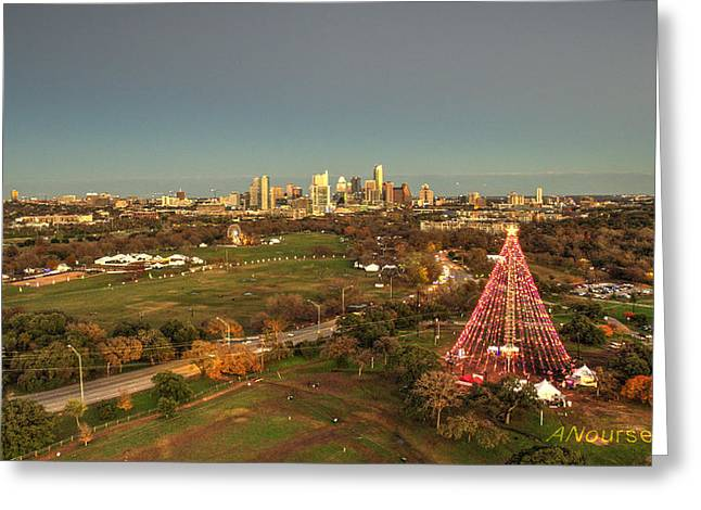 Christmas Tree In Austin Greeting Card