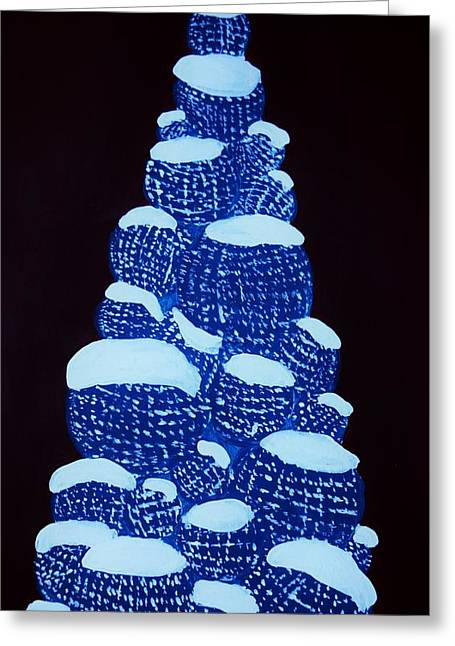 Christmas Tree Light Up Greeting Card by Nicole  Cris