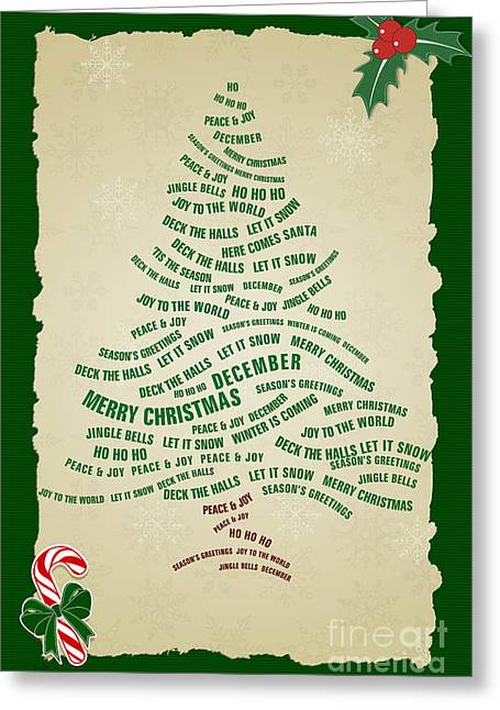 Christmas Tree Thoughts Greeting Card by Bedros Awak
