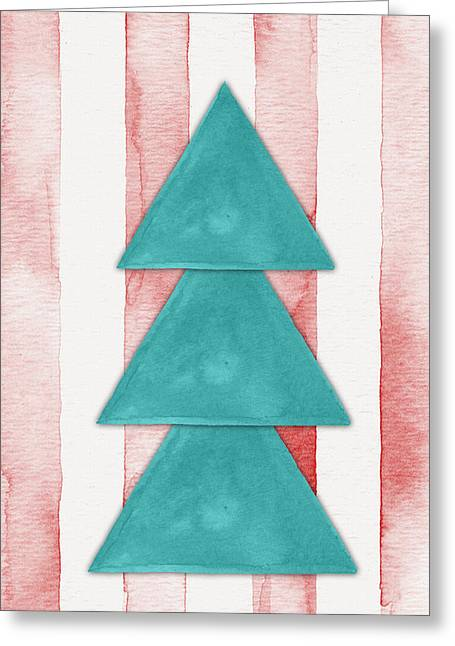 Christmas Tree Watercolor Greeting Card