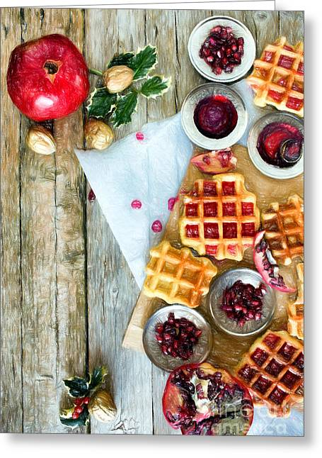 Christmas Waffle Greeting Card by Ezeepics