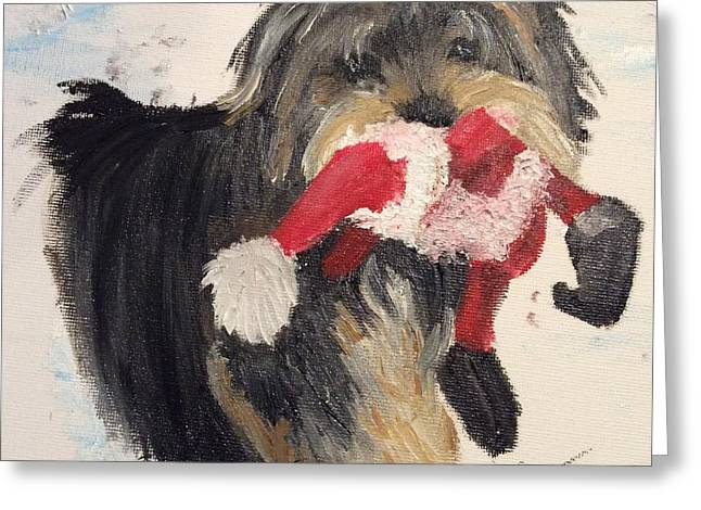 Christmas Yorkie Greeting Card