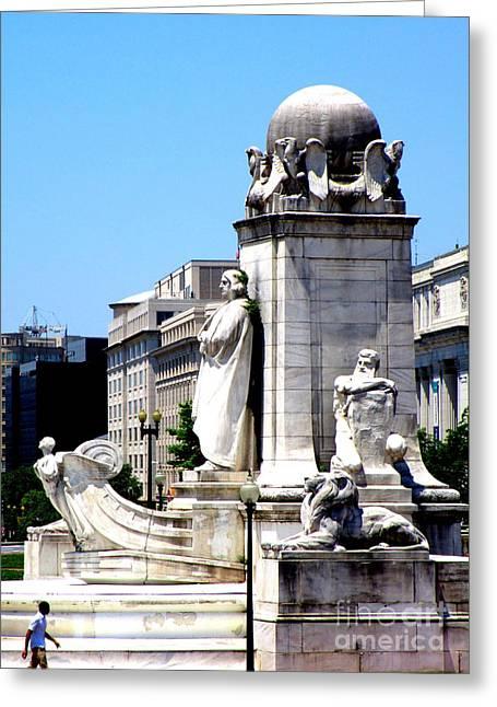 Christopher Columbus Memorial Fountain 1 Greeting Card