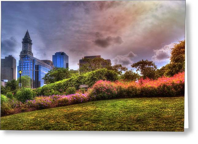 Christopher Columbus Park - North End Boston Greeting Card
