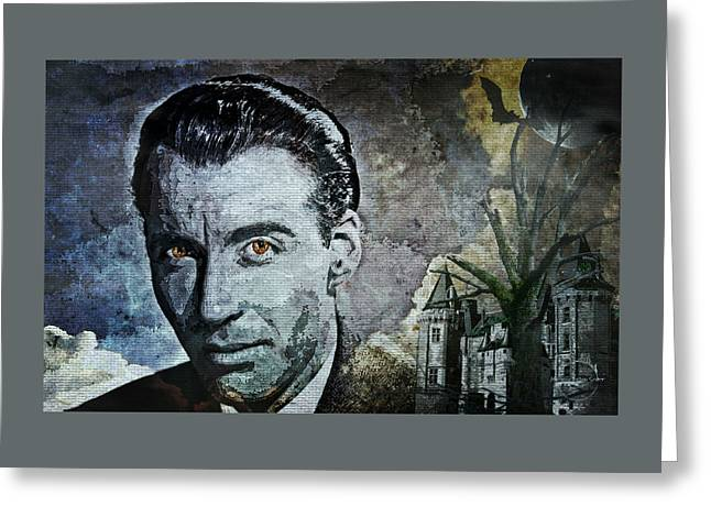 Christopher Lee Greeting Card by Absinthe Art By Michelle LeAnn Scott