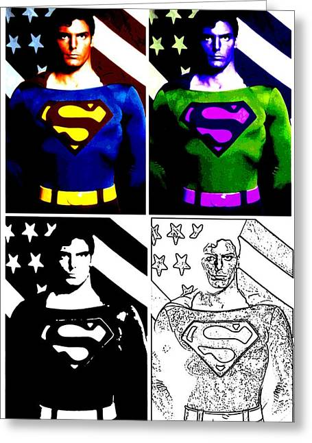 Greeting Card featuring the photograph Christopher Reeve - Our Man Of Steel 1952 To 2004 by Saad Hasnain
