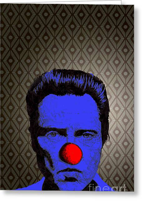 Greeting Card featuring the drawing Christopher Walken 1 by Jason Tricktop Matthews