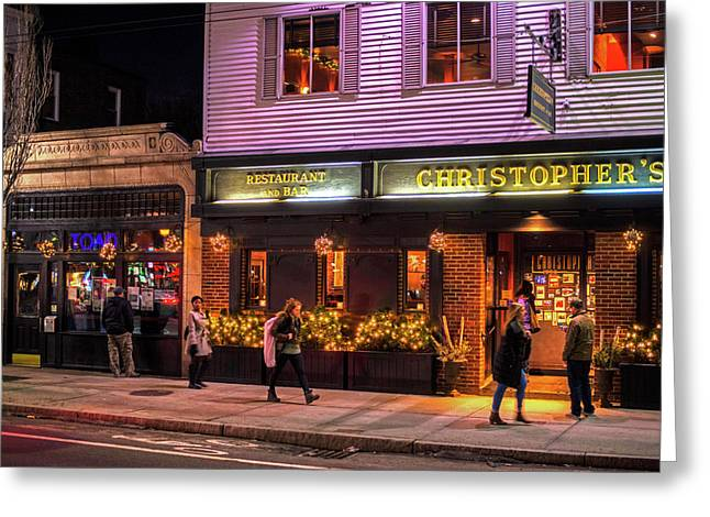 Christopher's And The Toad Cambridge Ma Porter Square Greeting Card