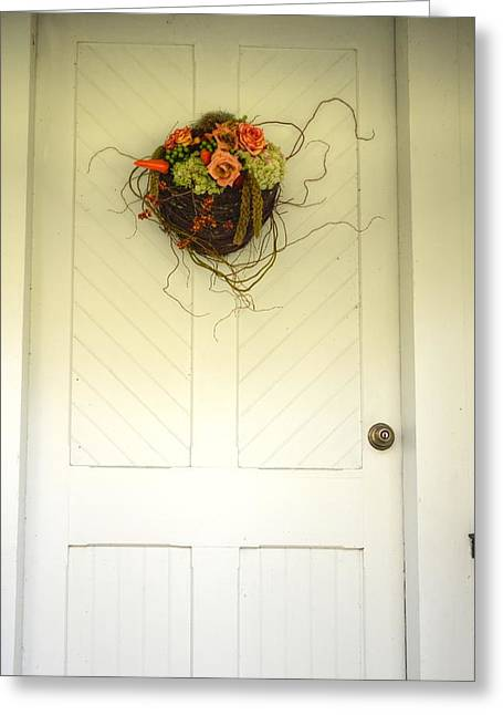 Christ's Church Side Door Greeting Card by Linda Covino