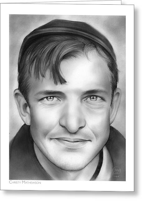Christy Mathewson Greeting Card by Greg Joens