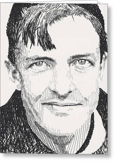 Christy Mathewson Greeting Card by Robbi  Musser