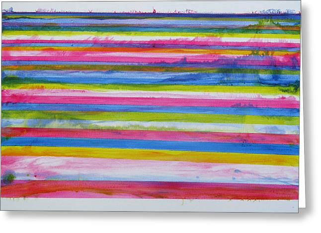 Chroma Flow Greeting Card by Tom Hefko