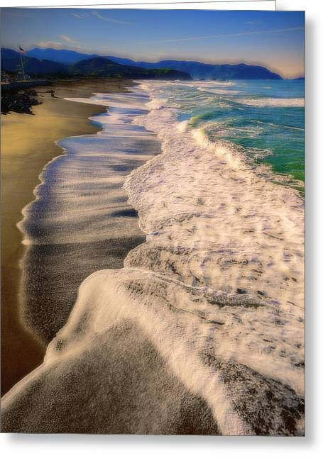 Chromatic Aberration At The Beach Greeting Card