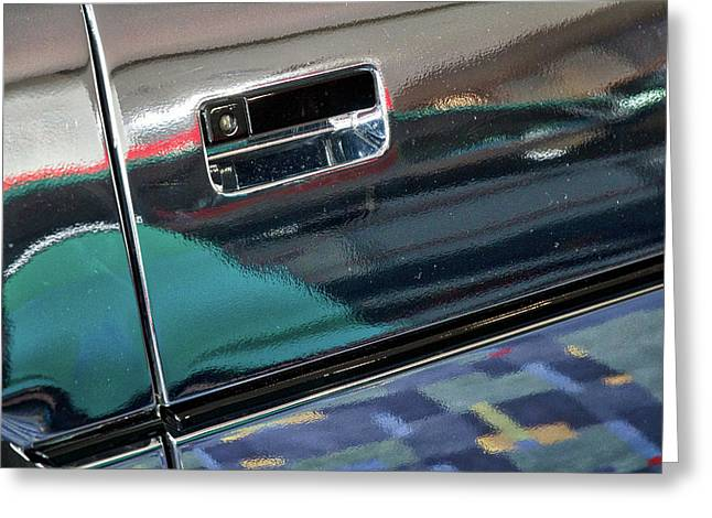 Chrome Car Reflections Abstract Greeting Card