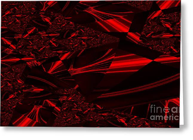 Chrome In Red Greeting Card by Clayton Bruster