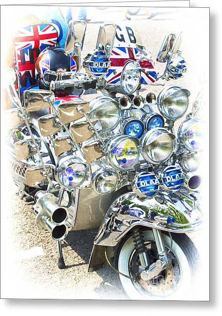Chromed Classic Greeting Card by Tim Gainey