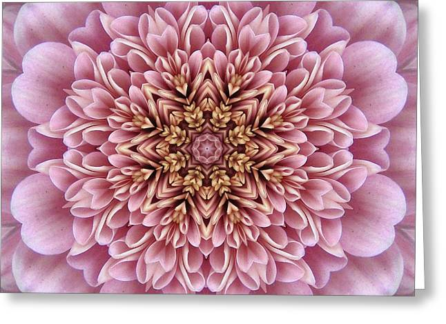 Chrysanthemum Kaleidoscope Greeting Card