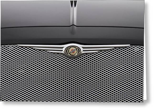 Chrysler 300 Logo And Grill Greeting Card