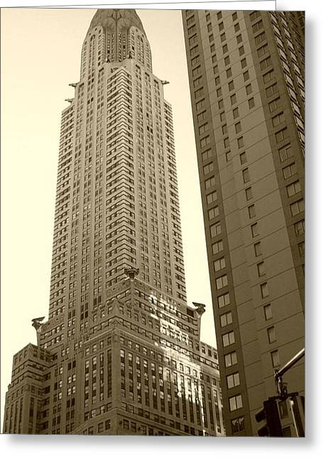 Chrysler Building Greeting Card by Debbi Granruth