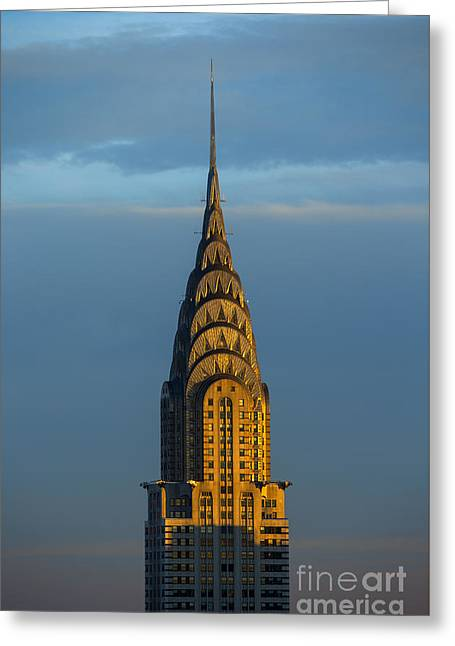 Chrysler Building In The Evening Light Greeting Card