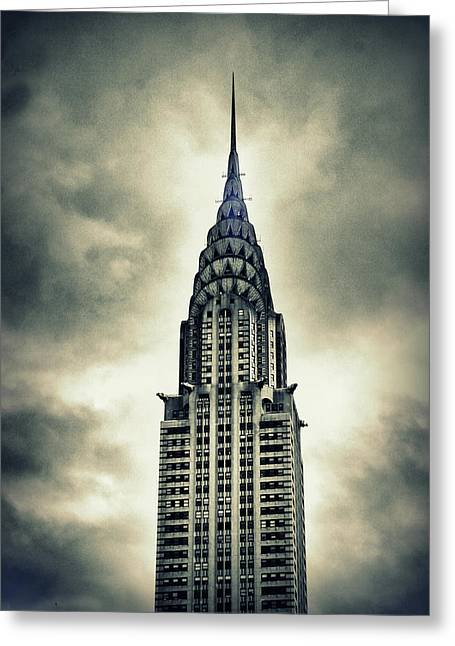 Chrysler Building Greeting Card by Jessica Jenney